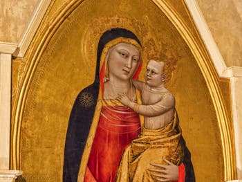 Nardo di Cione, Vierge à l'enfant église de Santa Croce à Florence en Italie