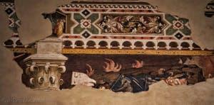 Fresques d'Orcagna Triomphe de la mort et l'enfer dans le réfectoire de l'église de Santa Croce à Florence en Italie