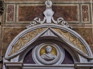 Tombeau de Gioachino Rossini dans l'église Santa Croce à Florence en Italie