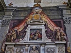 Tombeau de Michel-Ange Buonarroti dans l'église Santa Croce à Florence en Italie