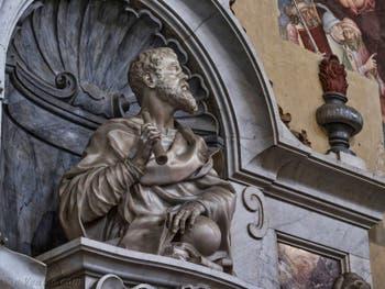 Tombeau de Galilée dans l'église Santa Croce à Florence en Italie