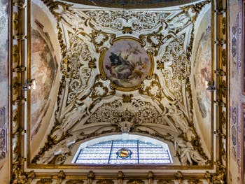 Chapelle Bardi du XIIIe siècle de l'église Santa Maria Novella à Florence en Italie