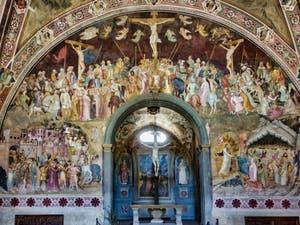 Fresques de la chapelle des Espagnols de la basilique église de Santa Maria Novella à Florence en Italie