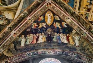 Fresques de la chapelle des Espagnols de l'église Santa Maria Novella à Florence en Italie