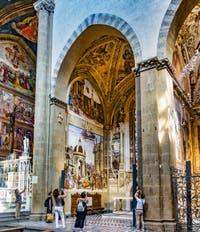 Chapelle Filippo Strozzi de Filippino Lippi (1489-1502) de l'église Santa Maria Novella à Florence en Italie
