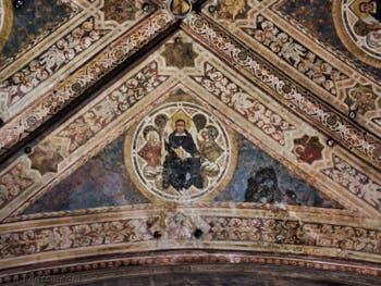 Chapelle Strozzi di Mantova Fresques de Nardio di Cione (1357) de l'église Santa Maria Novella à Florence en Italie