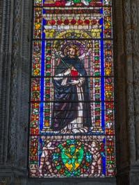 Vitraux du chœur de l'église Santa Maria Novella à Florence en Italie