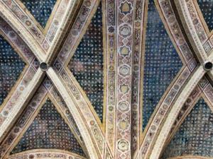 Fresques du Cloître des Morts de l'église Santa Maria Novella à Florence en Italie