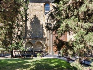 Jardins de l'église Santa Maria Novella à Florence en Italie