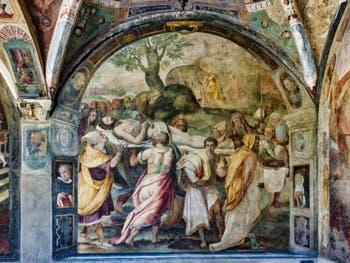 Fresques du Grand Cloître de l'église Santa Maria Novella à Florence en Italie