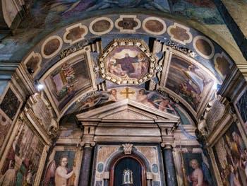 Fresques Passignano, 1593-1594, Chapelle des Reliques de saint Jean Gualbert, Basilique Santa Trinita à Florence en Italie