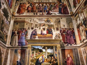 Domenico Ghirlandaio, Fresques de la Chapelle Sasseti, Vie de saint François d'Assise, 1483-1486, église basilique Santa Trinita, Florence Italie