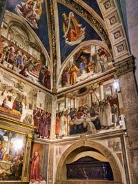 Domenico Ghirlandaio, Fresques de la Chapelle Sasseti, Vie de Saint-François d'Assise, 1483-1486, église basilique Santa Trinita, Florence Italie