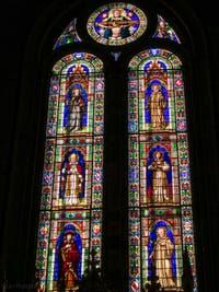 Vitraux de la nef de la basilique Santa Trinita, Neri di Fioravante, 1300-1330 et 1365-1405
