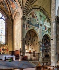 Giovanni del Ponte, Christ en gloire, fresque de 1429-1430, Basilique Santa Trinita à Florence en Italie
