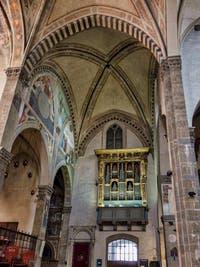 Onofrio Zeffirini da Cortona, 1560, partie interne de l'orgue de la Basilique Santa Trinita à Florence en Italie