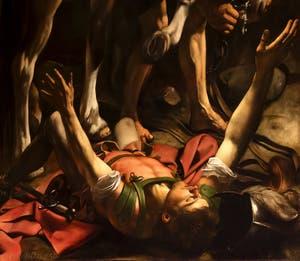 Caravage,La Conversion de Saint-Paul sur le chemin de Damas, Chapelle Cerasi, église Santa Maria del Popolo à Rome en Italie
