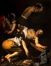 Caravage,La Crucifixion de saint Pierre, Chapelle Cerasi dans l'église Santa Maria del Popolo à Rome en Italie