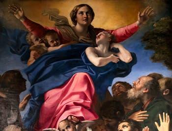Annibale Carracci, L'Assomption de la Vierge, chapelle Cerasi dans l'église Santa Maria del Popolo à Rome en Italie