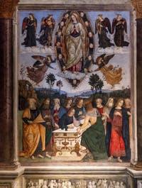 L'Assomption de la Vierge de Pinturicchio dans la chapelle Basso della Rovere de l'église Santa Maria del Popolo à Rome