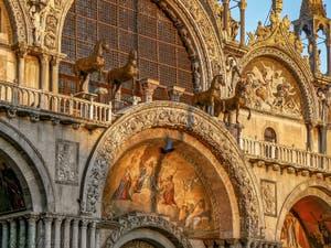 Le quadrige des chevaux de la basilique Saint-Marc à Venise