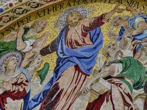 Mosaïque de l'Ascension de Luigi Gaetano, 1617-1618, de la basilique Saint-Marc à Venise