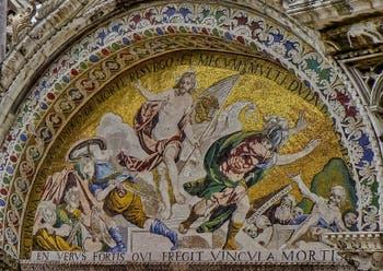 Mosaïque de la Résurrection par Luigi Gaetano, 1617-1618, basilique Saint-Marc à Venise