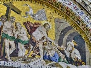 Mosaïque de la Descente aux Limbes de Luigi Gaetano en 1617-1618, basilique Saint-Marc à Venise