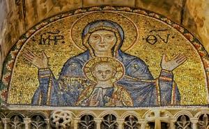 Vierge à l'enfant, mosaïque de la basilique Saint-Marc à Venise