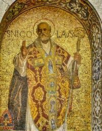 Mosaïque de Saint-Nicolas de la basilique Saint-Marc à Venise