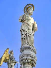 Statue de Saint-Marc par Nicolo Lamberti, XVe siècle, basilique Saint-Marc à Venise