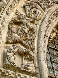 Sculptures de l'arc central de la Basilique Saint-Marc par Pietro Lamberti au XVe siècle