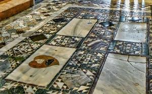 Mosaïques du sol de la Basilique Saint-Marc à Venise, datant du XIIIe siècle
