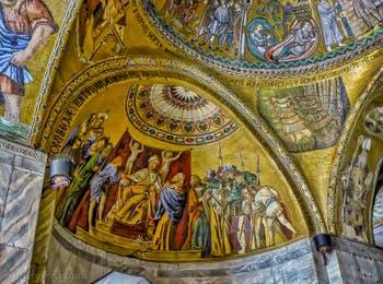 Mosaïques du XIIIe siècle dans l'atrium de la basilique Saint-Marc à Venise