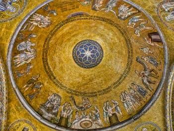Mosaïque de l'atrium de la basilique Saint-Marc à Venise datant du XIIIe siècle