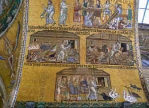 Mosaïques du XIe siècle dans l'atrium de la basilique Saint-Marc à Venise