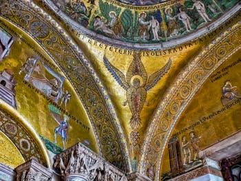 Coupole de la Genèse, Séraphin rayonnant de la lumière du soleil éternel, 1ère moitié XIIIe siècle, basilique Saint-Marc de Venise
