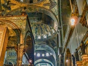 La nef de la basilique Saint-Marc à Venise datant du XIIIe siècle