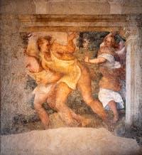 Chassés du Paradis Terrestre, fresque de Pordenone qui se trouvait dans le cloître de Santo Stefano, aujourd'hui au musée de la Ca' d'Oro à Venise.