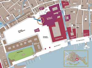 Plan de Situation de la Basilique Saint-Marc à Venise Italie