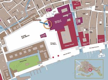 Plan de Situation de la Basilique Saint-Marc à Venise Italie