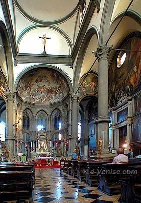 Intérieur de l'église de San Zaccaria à Venise
