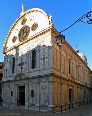 Façade de l'église Santa Maria dei Miracoli, Sainte Marie des Miracles à Venise