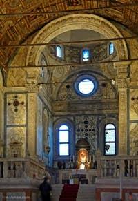 Le Choeur de l'église Santa Maria dei Miracoli à Venise