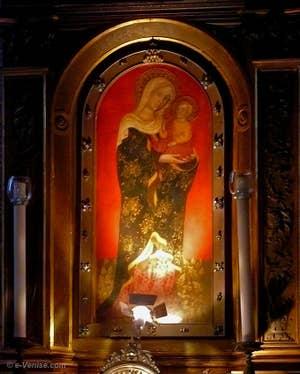 L'Icône Miraculeuse de la Vierge Marie à l'église Santa Maria dei Miracoli de Venise
