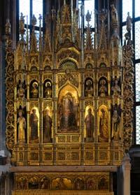 Alemagna, Vivarini, Polyptyque de La Vierge, chapelle d'Or San Tarasio dans l'église San Zaccaria à Venise