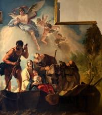 Giandomenico Tiepolo, la Fuite en Egypte, chapelle Sant'Atanasio de l'église San Zaccaria à Venise