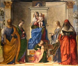 Giovanni Bellini, Vierge à l'enfant et Saints, Sainte Conversation, église San Zaccaria à Venise