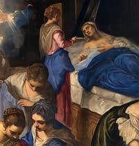 Le Tintoret, Naissance de la Vierge, chapelle Sant'Atanasio de l'église San Zaccaria à Venise