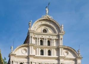 Façade de l'église San Zaccaria, Saint-Zacharie à Venise en Italie